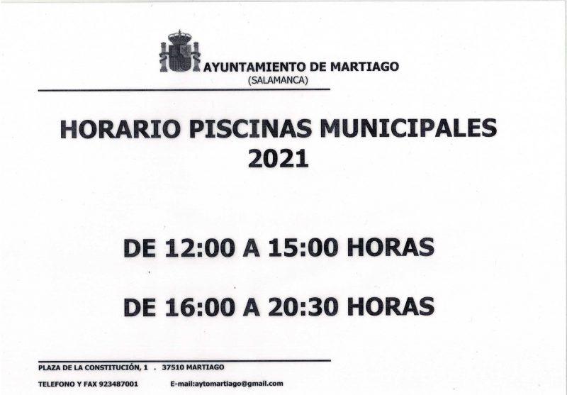 Horario Piscinas